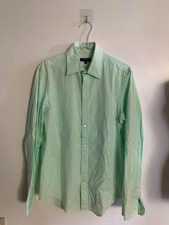 DKNY 淡綠長袖襯衫 真品