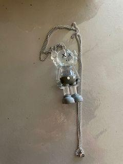 Kaws transparent figurine necklace