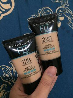 Maybelline Fit me 220 & 128