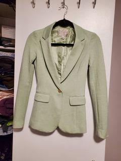 Mint color blazer in xs
