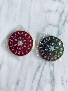 NEW Indian mirror set of 2 brought from India jewelry