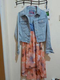 One set dress dan jaket jeans