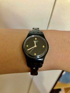 Swatch 黑色鏈帶手錶