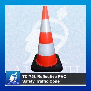TC-75L Reflective PVC Safety Traffic Cone