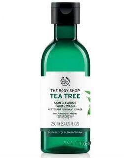 Tea tree facial wash body shop