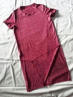 Tunik panjang pink keunguan