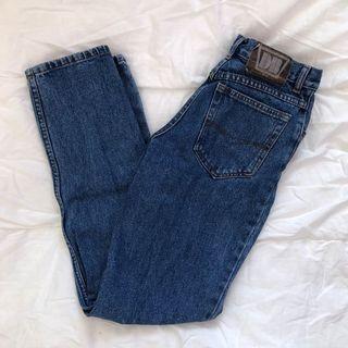 vintage dark wash jeans, size 23/24