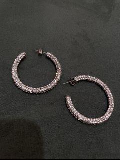 Zara 細鑽圈圈耳環