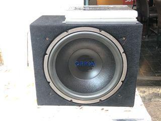 稀有15吋雙音圈重低音喇叭 含擴大機
