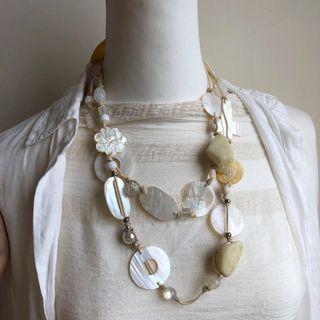 天然貝殼自然風項鍊/藝品