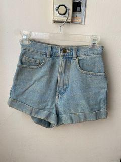 American apparel jean shorts size 24
