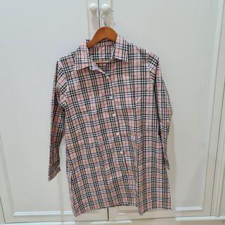 Baju Kemeja Dress Kotak-kotak