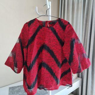 Blouse Red-Black