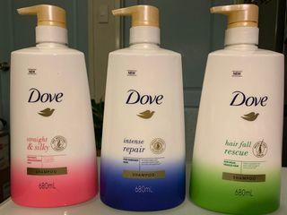 Dove Shampoo ( 3 Variants ) Pink/ Blue / Green 680ml