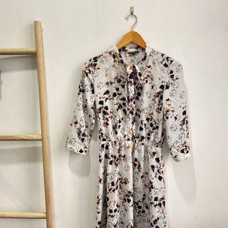 dress midi floral