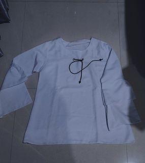 [FREE ONGKIR] atasan blouse putih polos