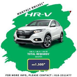 HONDA HR-V 0% SALES TAX