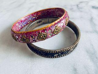 Indian bangle set of 2 from India bracelet Jewelry
