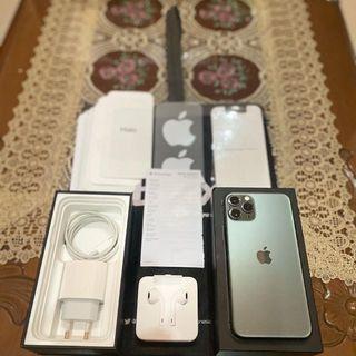 Iphone 11 pro 64gb ibox midnight green ibox,like new garansi panjang