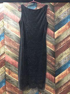 Karimadon Knee-Length Evening Dress - Black
