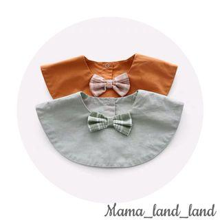 🎉🎉🎁Lovely little gentle baby boy cotton bibs with bow tie