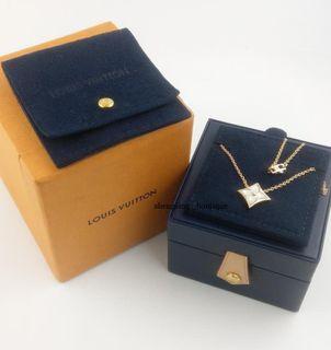 (專櫃售價9.15萬)[二手正品]LV LOUIS VUITTON BLOSSOM系列 18k玫瑰金+白色珍珠母貝 項鍊