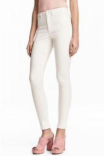 [New] Diveded H&M Super Skinny High Waist Pants In Broken White