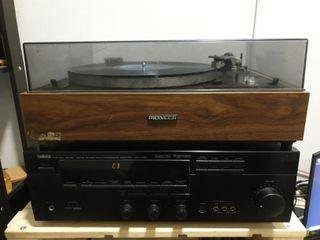 Pioneer PL-15R Turntable Record Player Set, Yamaha DSP-A590 Amplifier with Phono Stage Built in and Pair of Celstion Speakers, Begineer Hifi