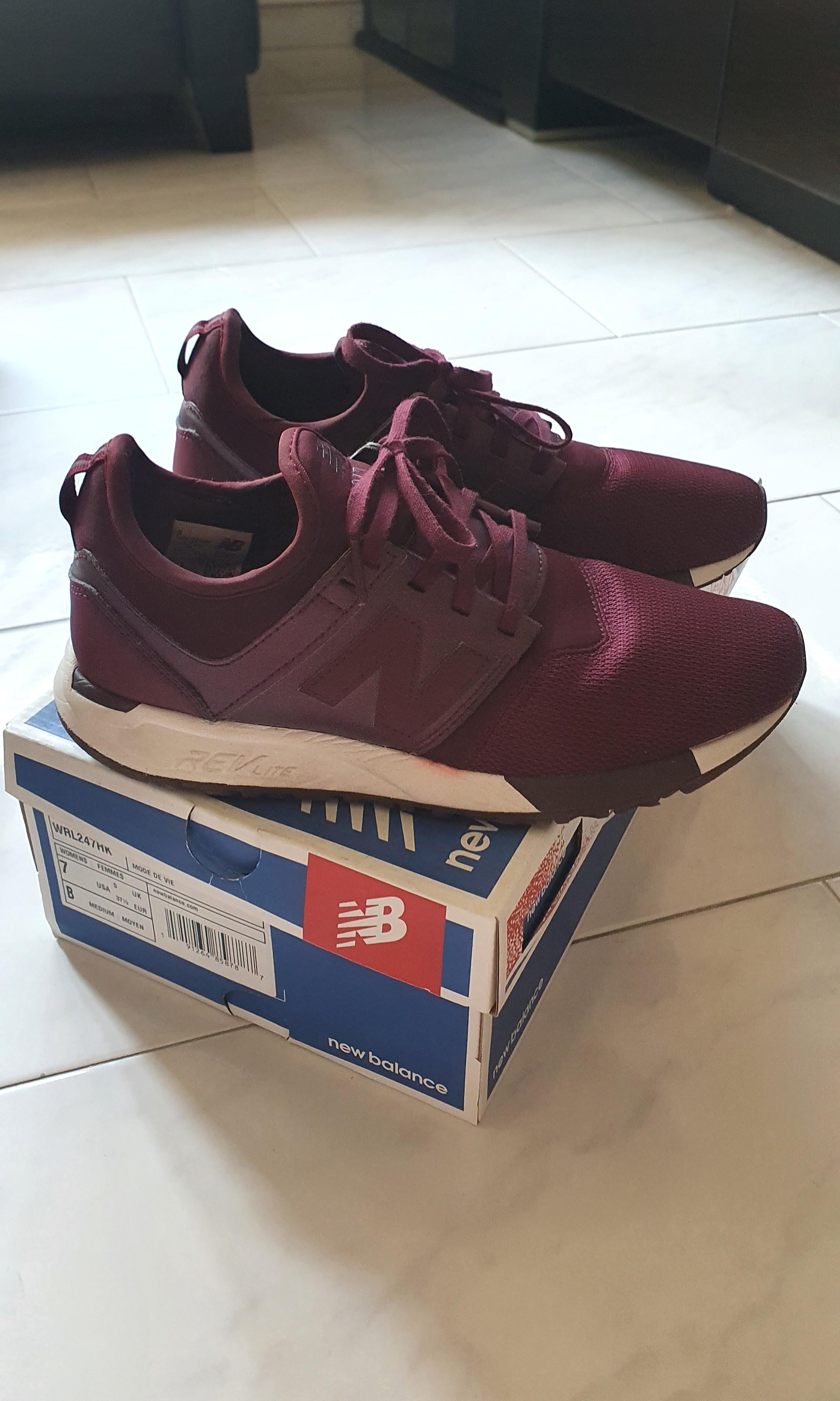 Preloved Wine 257 New Balance Sneakers, Women's Fashion, Footwear ...