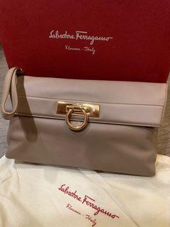 PRICE REDUCED!! Salvatore Ferragamo Clutch Bag with short strap