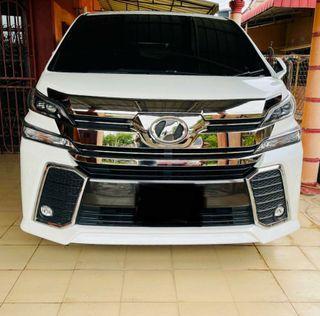Status Kereta Piang/Jt/Logo  Toyota Vellfire 2.5 ZA (Auto) 2016/2019 Dokumen Lengkap (Geran Salinan&Ic Owner) Nama Persendirian  Kunci 1 Roadtax Hidup Report Serah Kereta PowerDoor,7 Seater,Sunroof