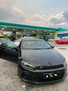 STATUS SINGAPORE  Volkswagen Scirocco 1.4tsi turbo  Rocco R b.kit  18' wheel  Android player with TPM & reverse camera