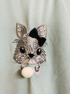 刺繡兔子T桖