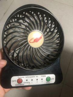 手提風扇/芭蕉扇(有塵.需自行清潔.新舊如圖)操作正常.沒有跟usb線