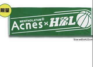 限量17 Acnes HBL 運動毛巾 曼秀雷敦