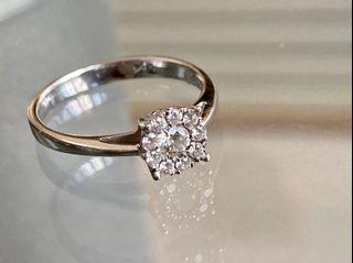 鑽石💠戒指💍(刻字18k.750-0.14)淨、亮、白、透!12、13#可戴,恕不議價!🙏