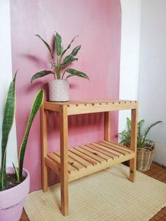 Korean 2-tier wooden side table/ rack