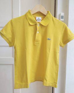 Lacoste Collared Yellow T-shirt