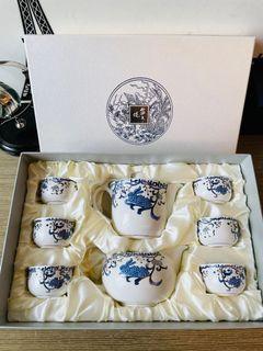 全新皇殿描金鹽水燒(6杯、1壺、1茶海)共八樣(看內文圖片)#支持