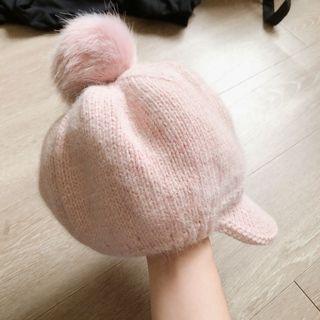 全新!粉紅色球球帽,超柔軟~