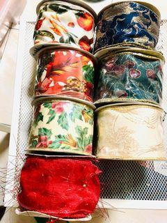 寬版 鐵絲緞帶七卷