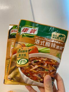 台灣製 康寶港式酸辣濃湯 快煮包 (2021年10月過期)