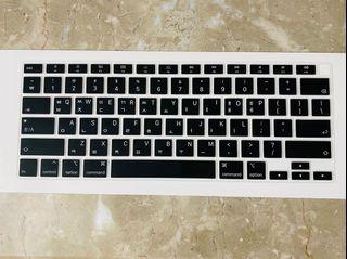 現貨 蘋果Apple MacBook Air 13.3吋 筆電新款M1 矽膠 韓語鍵盤膜 鍵盤套 鍵盤保護膜 黑色
