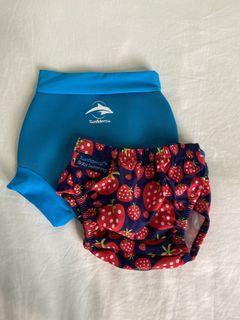 嬰兒游泳專用 尿布褲 兩件套組
