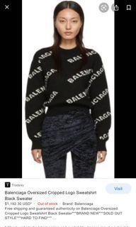 Balenciaga cropped sweater