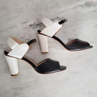 Black & White High Heeled Sandals