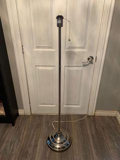 Chrome floor lamp base only