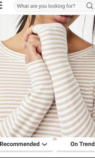 Cotton On stripes ribbed top