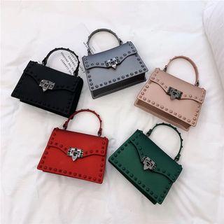 Crossbody studded pvc purse