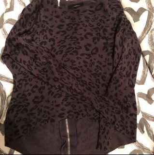 Dark Leopard Crop Top